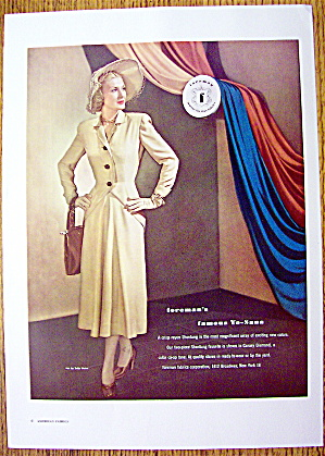 1948 Foreman Yo-sana Fabric W/ Woman In 2 Piece
