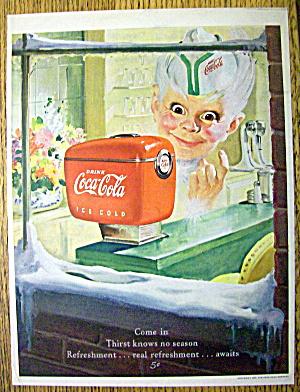 1949 Coca Cola (Coke) with Soda Boy's Face (Image1)