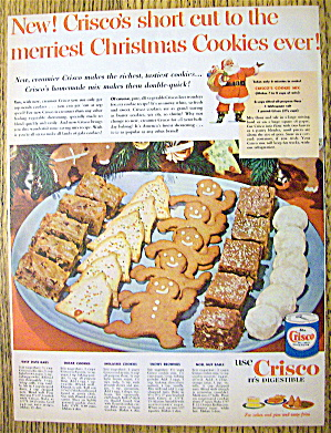 1952 Crisco With Christmas Cookies (7 Recipes)