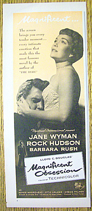 1954 Magnificent Obsession W/ Jane Wyman & Rock Hudson