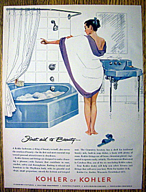 1957 Kohler of Kohler Bathroom with Woman Taking Bath (Image1)
