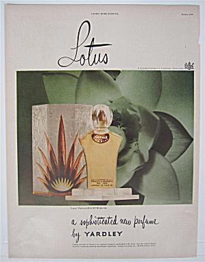 1948 Yardley Lotus With The Bottle Of Perfume  (Image1)