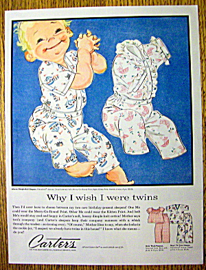 1957 Carter Dimple Knit Sleepers with Baby (Image1)