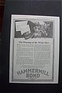 Vintage Ad: 1918 Hammermill Bond Paper Company (Image1)