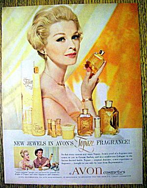 1960 Avon Topaze Fragrance with Avon Woman (Image1)