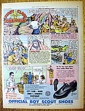 1961 Boy Scout Shoes with First Class Adventures (Image1)