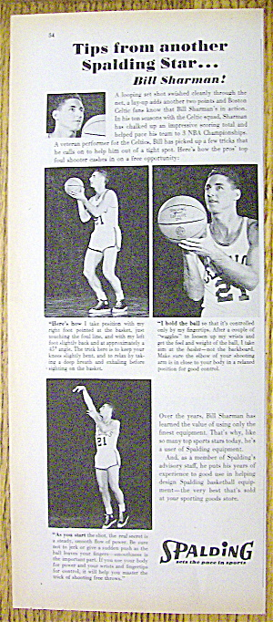 1961 Spalding Basketball With Basketball's Bill Sharman