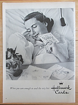 1957 Hallmark Cards with Mother & Her Baby with Card (Image1)