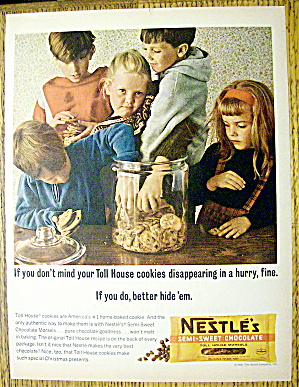 1964 Nestle Chocolate Morsels W/kids & Cookies