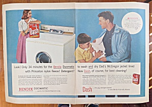 1956 Bendix Duomatic with Woman & Dash Detergent  (Image1)