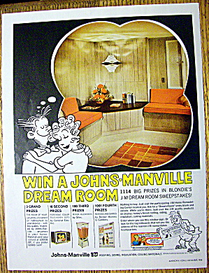 1966 Johns Manville With Blondie & Dagwood