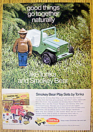 1972 Smokey Bear Play Sets By Tonka W/bear & Jeep