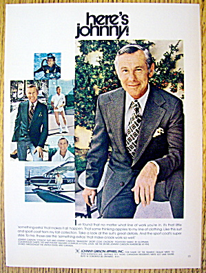 1974 Johnny Carson Apparel With Here's Johnny