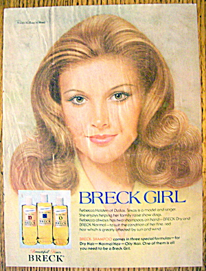 1977 Breck Shampoo with Breck Girl Rebecca Holden (Image1)