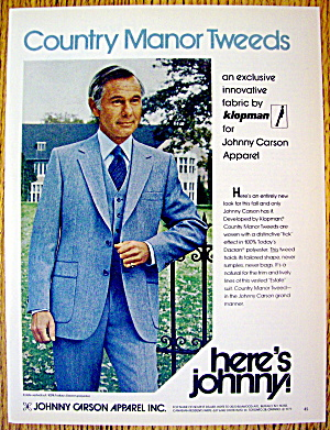 1979 Johnny Carson Apparel with Country Manor Tweeds (Image1)