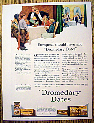 1923 Dromedary Dates With Family At Dinner