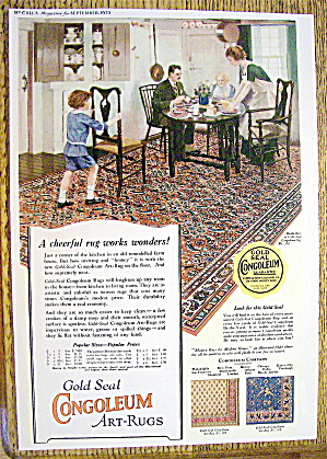 1923 Congoleum Art Rugs with Family Eating Dinner (Image1)