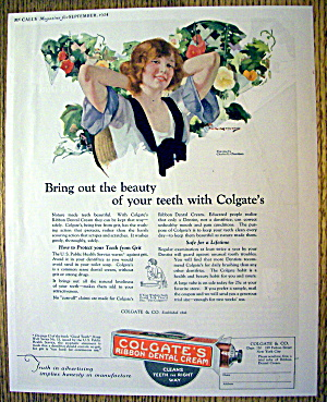 1924 Colgate Dental Cream w/Woman Smiling By Chambers (Image1)