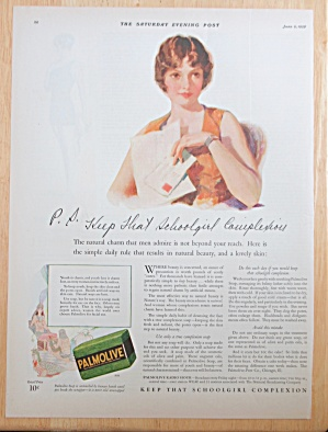 1928 Palmolive Soap With Woman Holding Letter
