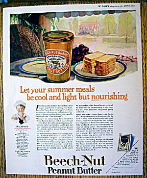 1924 Beech-Nut Peanut Butter with Bread On a Plate (Image1)