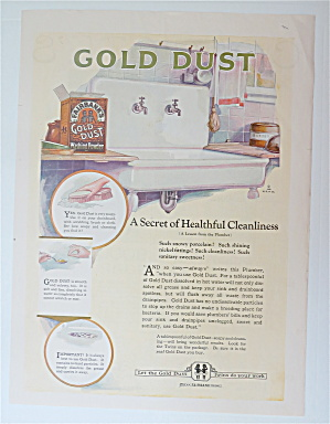 1920 Gold Dust With A Clean Kitchen Sink