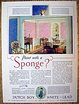 1927 Dutch Boy White Lead Paint with Sponge Painting (Image1)