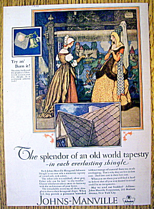 1927 Johns Manville Shingles with Old World Tapestry (Image1)