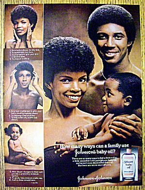 1976 Johnson's Baby Oil with Man, Woman & Child (Image1)