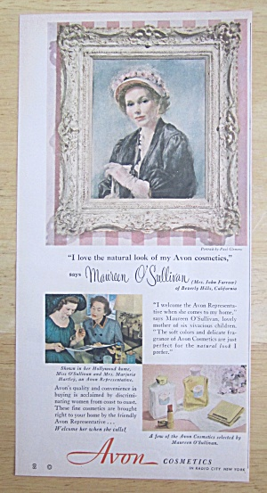 1950 Avon Cosmetics with Maureen O' Sullivan (Image1)