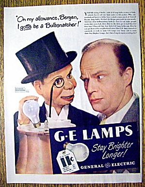 1946 G E Lamps w/Edgar Bergen & Charlie McCarthy (Image1)