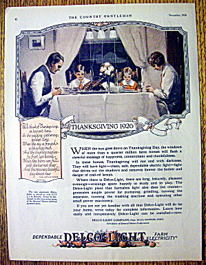 1926 Delco Light Company with Family at Thanksgiving (Image1)