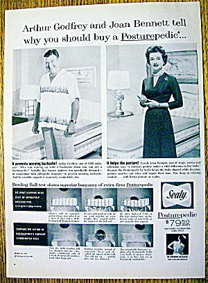 1959 Sealy Mattress with Arthur Godfrey & Joan Bennett (Image1)