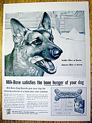 1959 Milk Bone Dog Biscuits with Shepherd by Mary Baker (Image1)