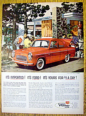 1959 English Ford Line With Four-door Sedan Prefect