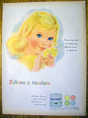 1959 Northern with Little Blonde GIrl & Yellow Flowers (Image1)