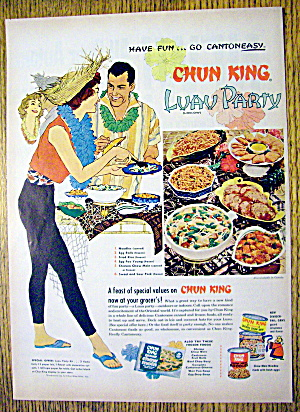 1959 Chun King Foods With Luau Party