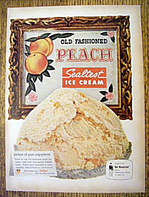 1959 Sealtest Peach Ice Cream With Bowl Of Ice Cream