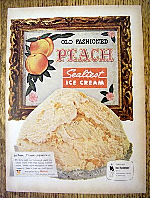 1959 Sealtest Peach Ice Cream with Bowl of Ice Cream (Image1)