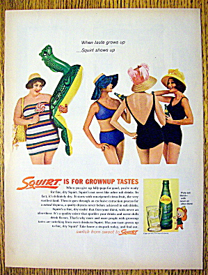 1962 Squirt With Four Women In Swim Suits