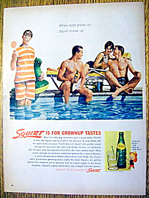 1962 Squirt With Two Men & Woman Talking About A Man