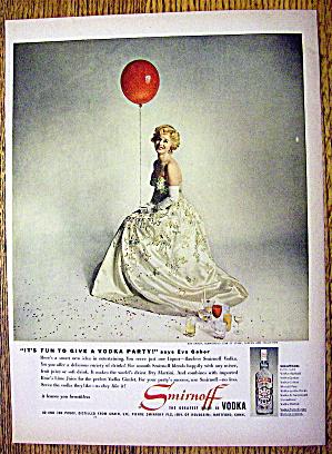 1959 Smirnoff Vodka with Glamorous Star Eva Gabor (Image1)