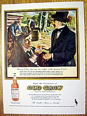 1959 Old Crow Whiskey With Henry Clay & James Crow