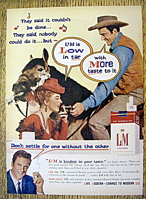 1959 L & M Cigarettes with James Arness & Amanda Blake (Image1)