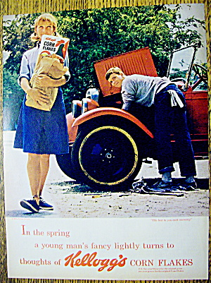1964 Kellogg's Corn Flakes W/boy Watching Girl Walking