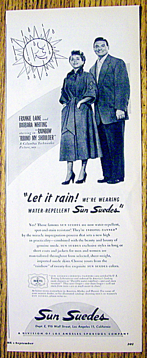 1952 Sun Suedes With Frankie Laine & Barbara Whiting