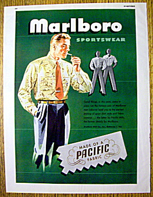 1946 Marlboro Sportswear with Man Lighting Cigarette (Image1)