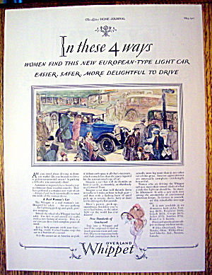 1927 Whippet With 4 Ways Women Find This Car Delightful