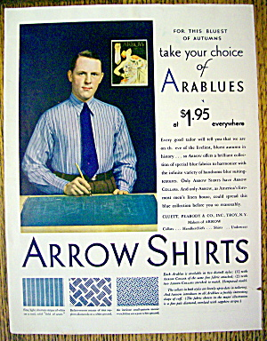 1929 Arrow Arablue Shirts with Man in Arablue Shirt (Image1)