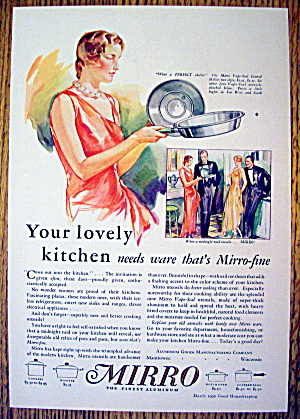 1930 Mirro Aluminum with Vapo Sealed Covered Skillet (Image1)
