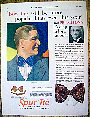 1930 Spur Tie with Man Wearing Tie By Donald Gardner (Image1)